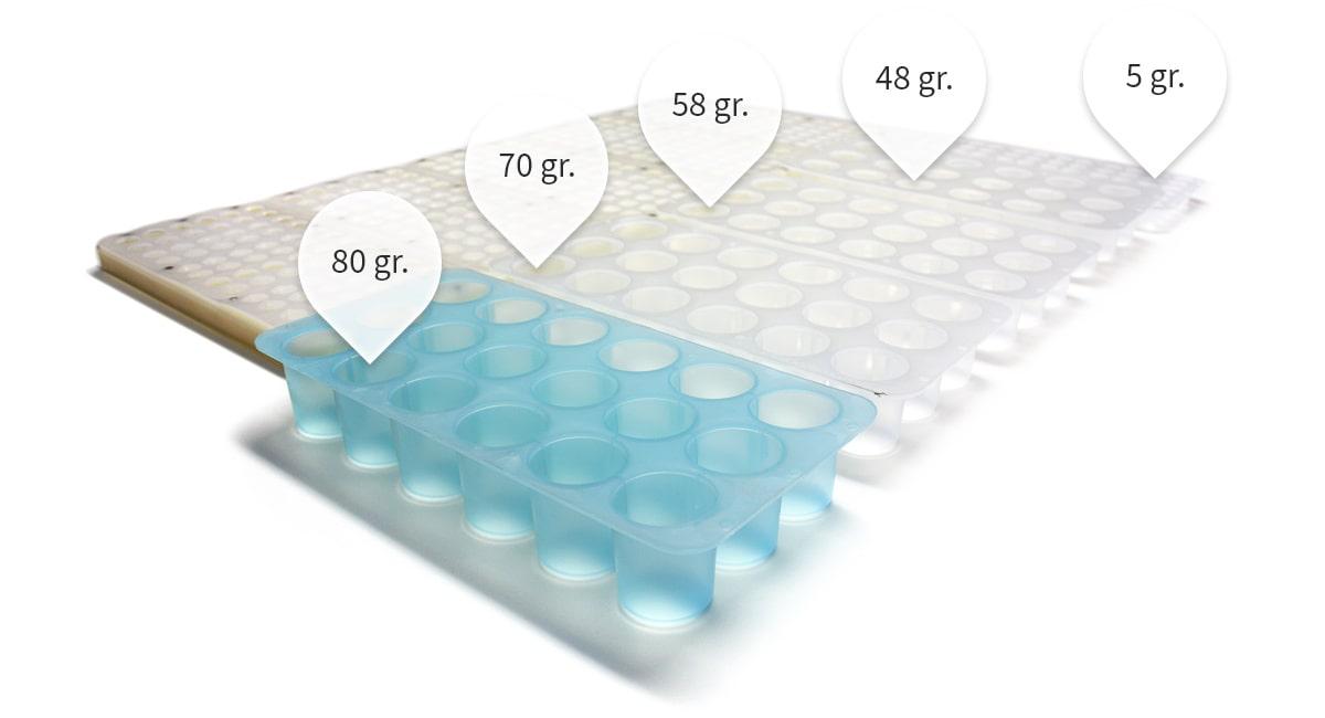 Tipos de bandeja de hielo